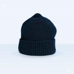Rollmütze Uwe Schurwolle - marineblau
