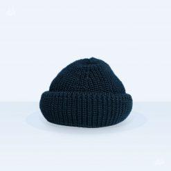 Tellermine Schurwolle - marineblau