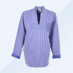 Hamburger Fischerhemd blau schmal gestreift