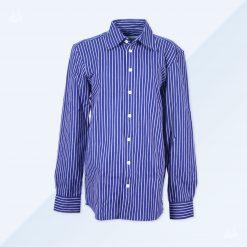 Businesshemd blau breit gesteift