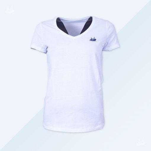 V-T-Shirt - Women - Weiß
