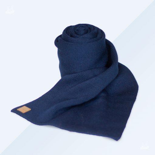 Merinoschal - Feinstrick - Marineblau