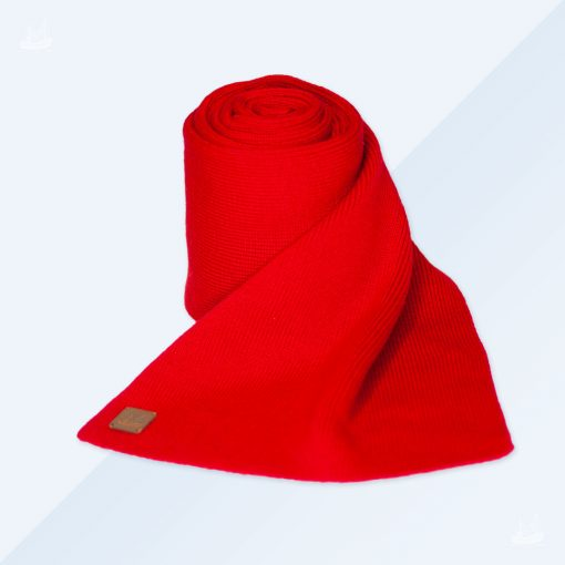 Merinoschal - Feinstrick - Rot