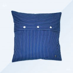 Kissen 40x40 - Blau breit gestreift
