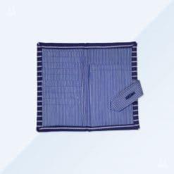 Portemonnaie - Blau breit gestreift1