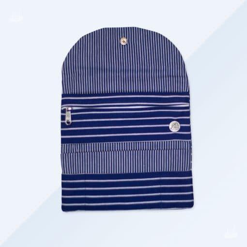 Tabakbeutel - Blau breit gestreift1