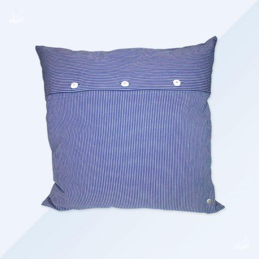 Kissen 50x50 - schmal gestreift - blau