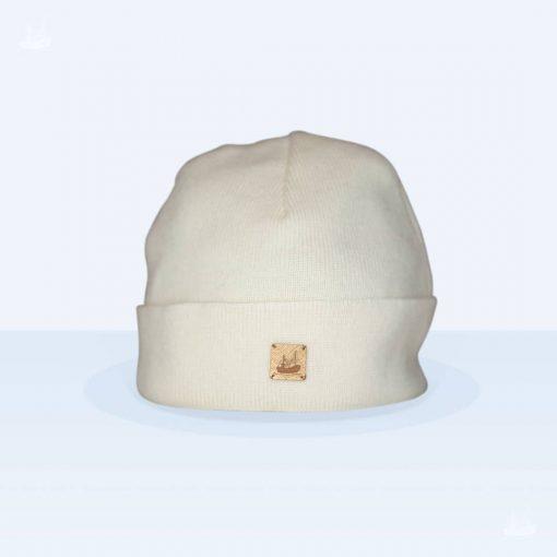 Merino Mütze Feinstrick - Ecru