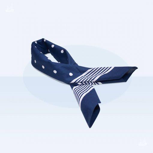 Tuch Punkte 70x70cm - Blau