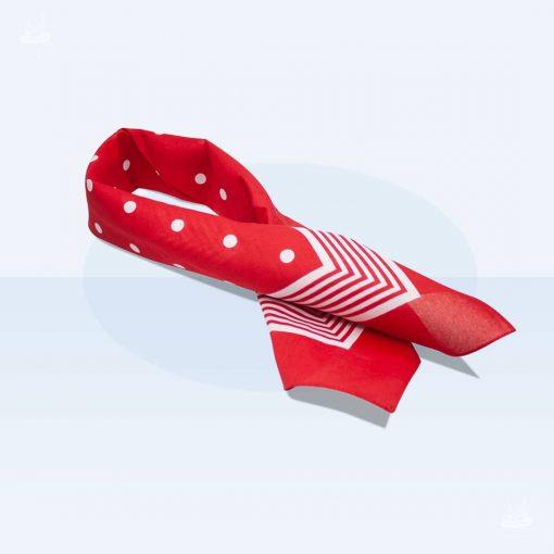Tuch Punkte 70x70cm - Rot